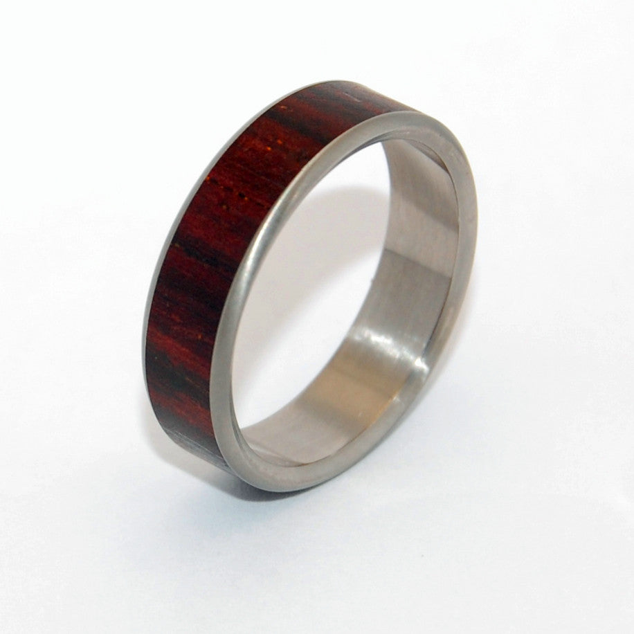 My Heart | Cocobolo Wood - Titanium Wedding Ring