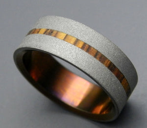Strong Heart | Wood and Hand Anodized Titanium Wedding Ring