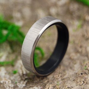 VERTICAL CONQUER KORE | Onyx Stone Titanium Men's Wedding Rings - Minter and Richter Designs