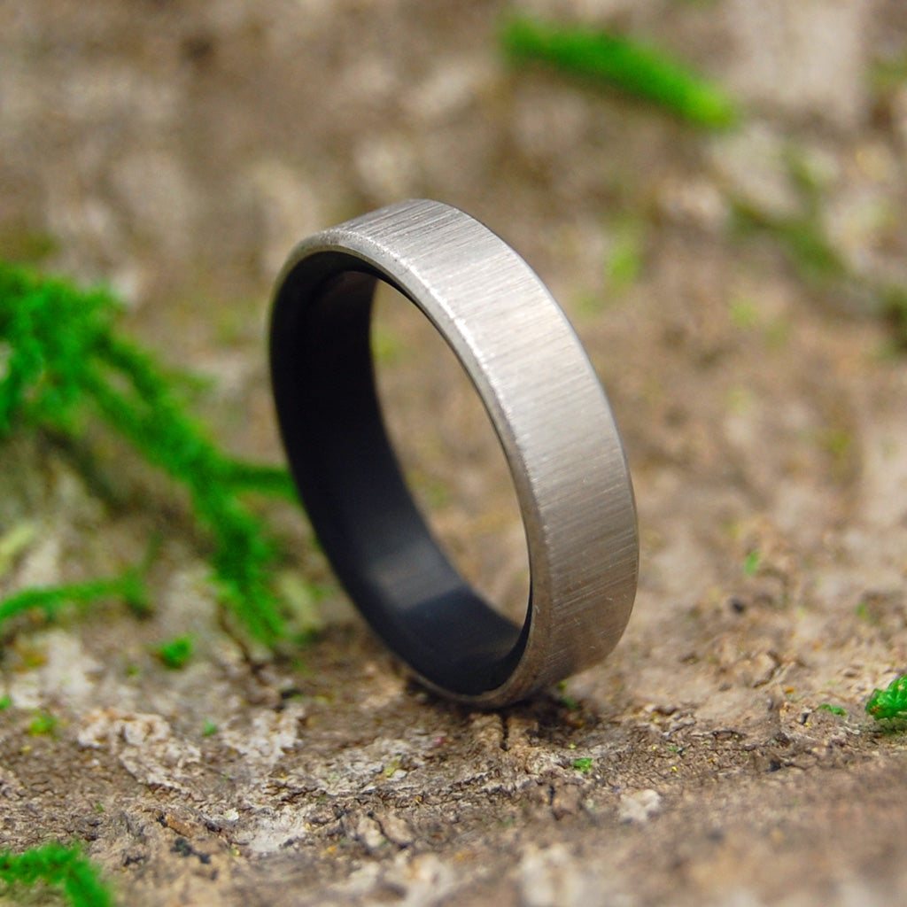 Mens Wedding Rings - Custom Mens Rings - Black Rings - Wood Rings | VERTICAL CONQUER KORE