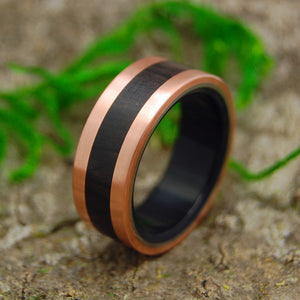 Mens Ring - Copper and Titanium Wedding Ring | AFRICAN COPPER KING