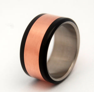 Copper and Titanium Wedding Ring | COPPER HEDONISM - Minter and Richter Designs