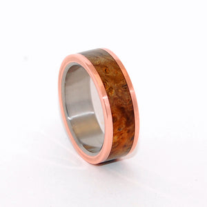 Just Between Us | Copper and Wood Titanium Wedding Ring - Minter and Richter Designs