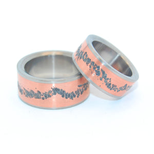 OUR PATH TOGETHER | Copper & Titanium Wedding Rings Set - Copper Rings - Minter and Richter Designs