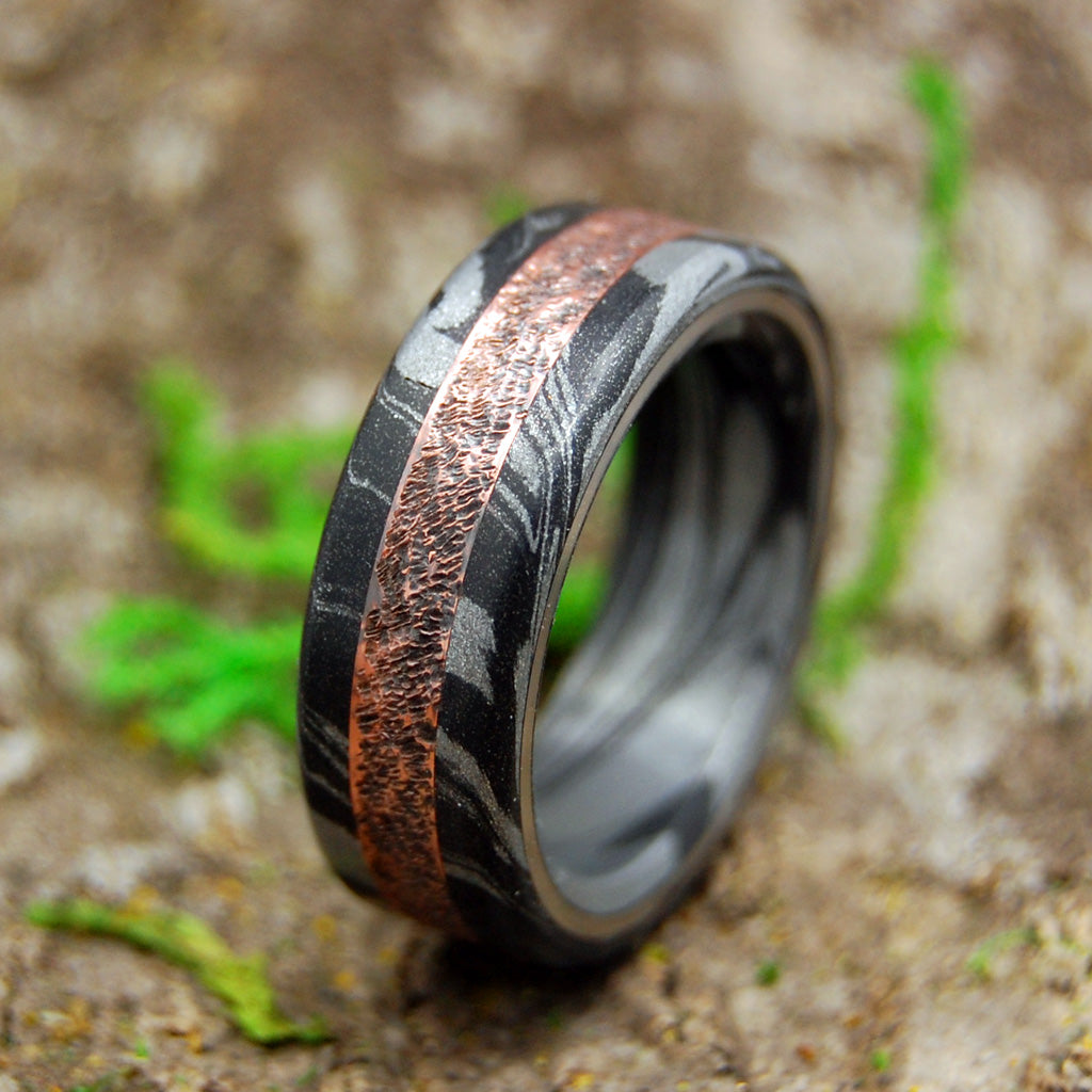 COPPER SMACKDOWN | Copper & Black M3 Wedding Ring - Minter and Richter Designs
