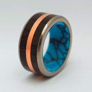Men's Titanium Wedding Rings - Copper Ring - Unique Wedding Ring | COPPER BOG