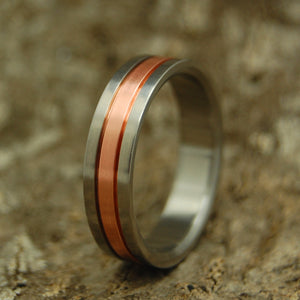 COPPER MEETS TITANIUM | Copper & Titanium Custom Men's Wedding Bands - Minter and Richter Designs
