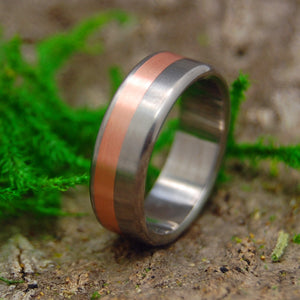 Mens Wedding Ring - Copper and Titanium Wedding Ring Set | COPPERSMITH