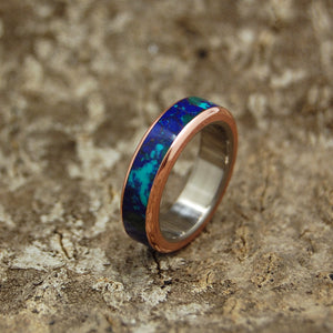 Womens Titanium Wedding Rings |GALAXY OF HER HEART