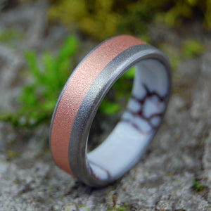 COPPERSTONE | Jasper Stone & Copper Titanium Men's Wedding Rings - Minter and Richter Designs