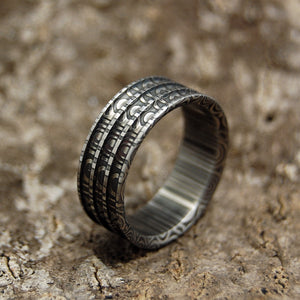 Creative Man - Damasteel | Handcrafted Wedding Rings