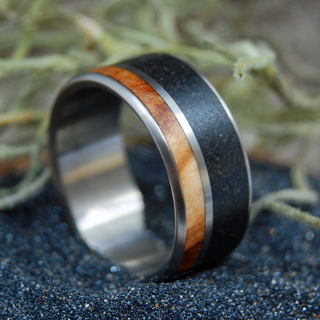 Black Wedding Ring - Mens Ring | CYPRESS SWAMP