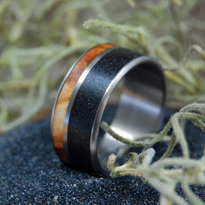 CYPRESS SWAMP | Wood & Beach Sand Wedding Ring - Minter and Richter Designs