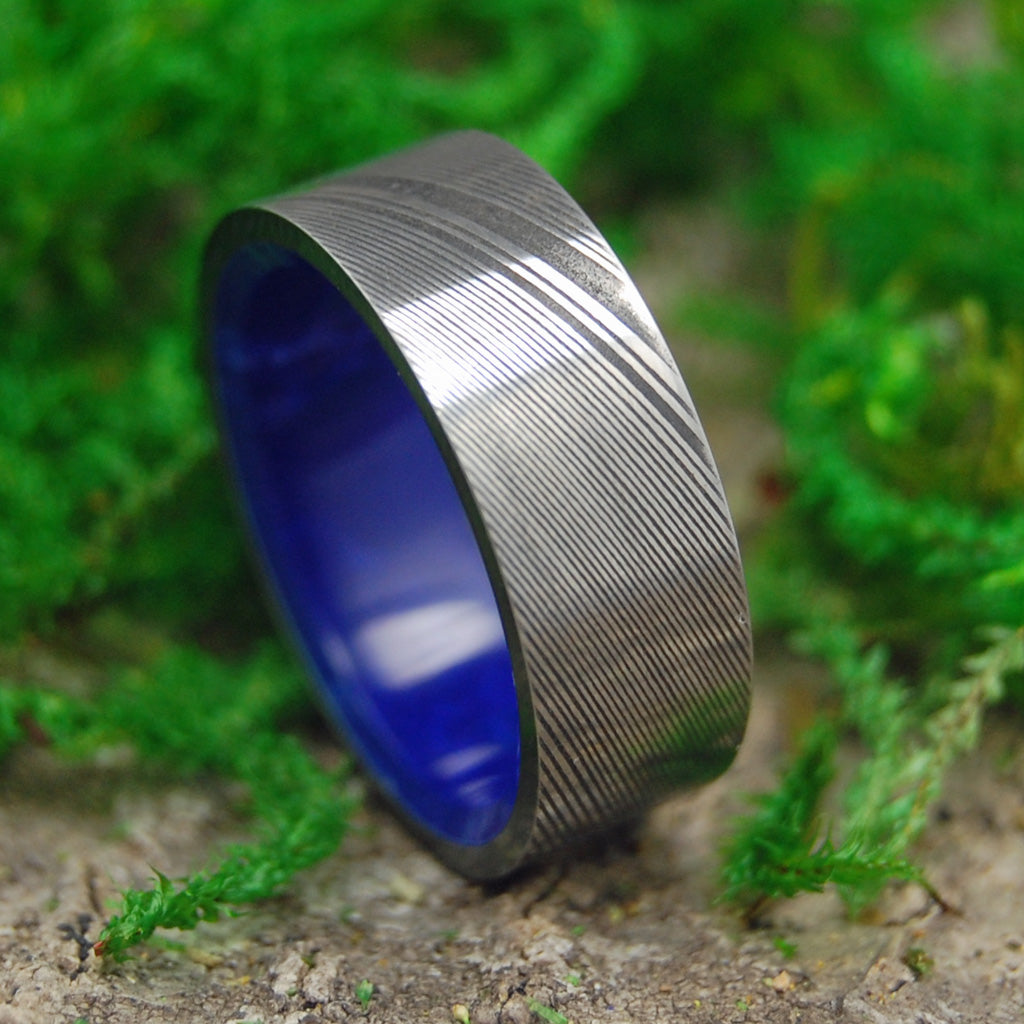 Damasteel Wedding Ring | Unique Men's Black Wedding Rings | THE WALL