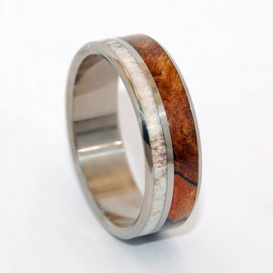 Partner | Horn and Titanium Wedding Ring - Minter and Richter Designs