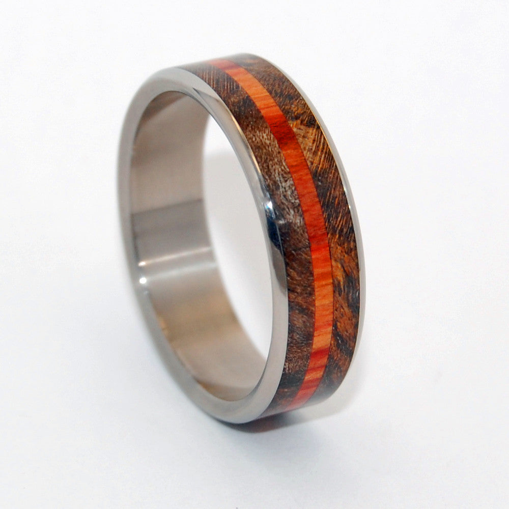 HOW QUICKLY | Maple Wood Wedding Rings - Unique Wedding Rings - Minter and Richter Designs