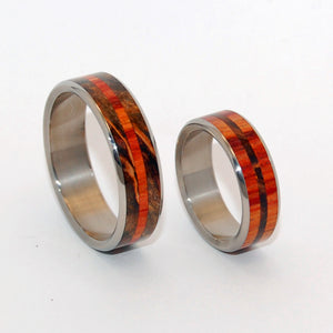 How Quickly I Fell For You Set | Handcrafted Wooden Wedding Ring Set