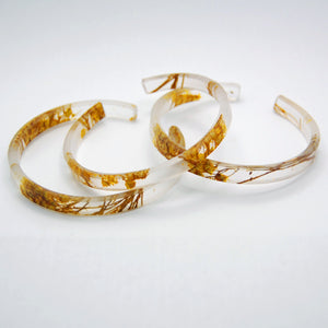 Bumble Flower Bangle Bracelet
