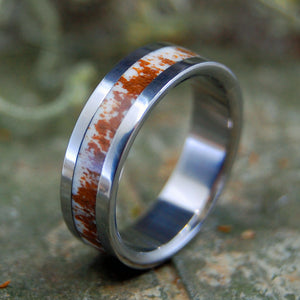 FOUND DEER ANTLER | Antler & Titanium Wedding Ring - Minter and Richter Designs