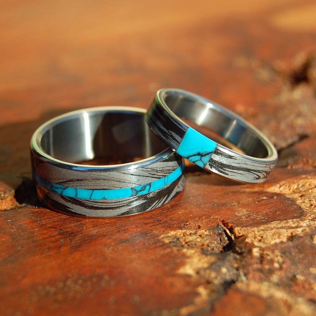 Desirous of Desires Whirlwind | Titanium Wedding Rings