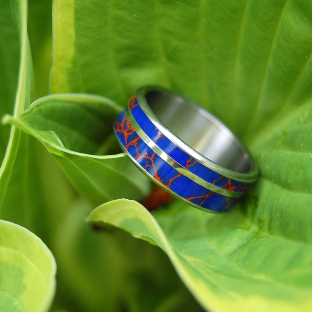 Devil's Desire | Azurite Stone Wedding Ring