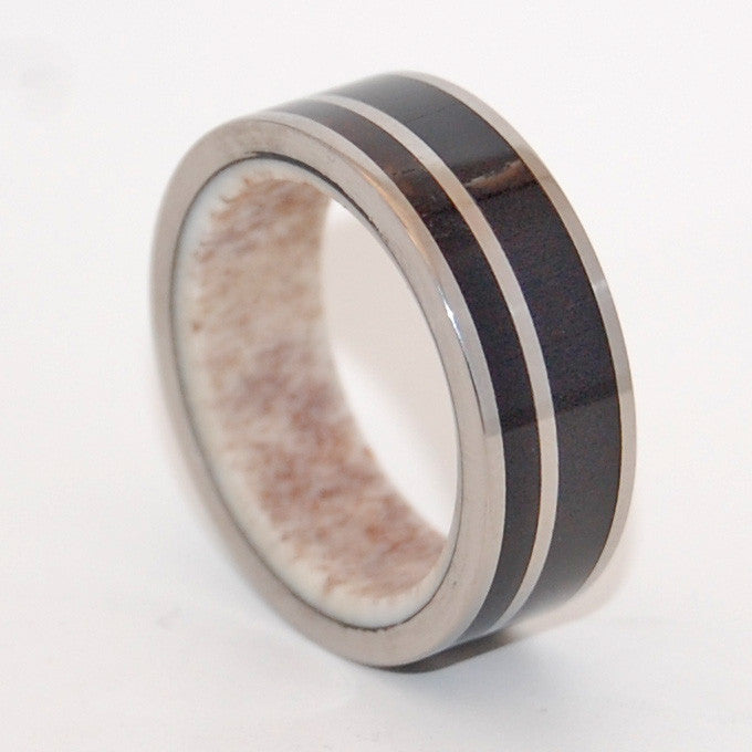 MAN OF THE LAND | Moose Antler & American Bison Horn - Unique Wedding Rings - Minter and Richter Designs