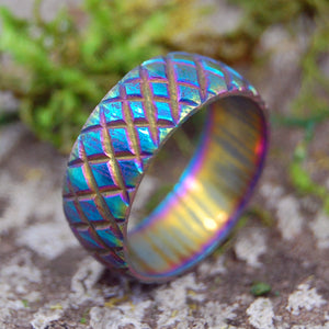 DRAGON'S MISTRESS | Carbon Damascus Steel Wedding Rings - Minter and Richter Designs