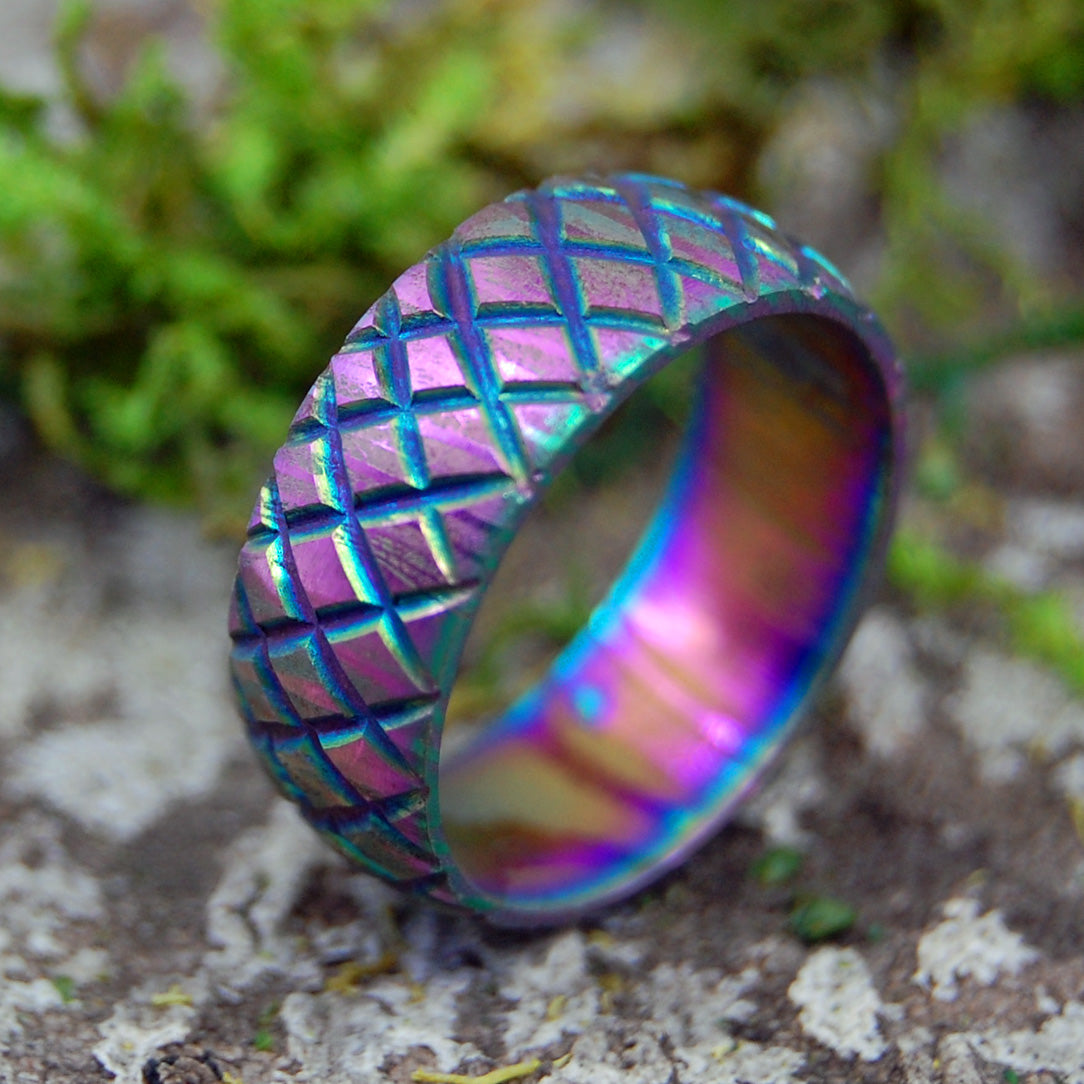 DRAGON'S MISTRESS | Carbpm Damascus Steel Wedding Rings - Minter and Richter Designs