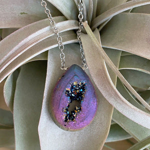 Bridal jewelry - Necklace | LARGE DRUZY DROP NECKLACE