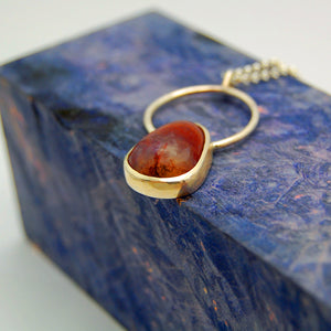 Armenian Agate Circle Pendant - Minter and Richter Designs