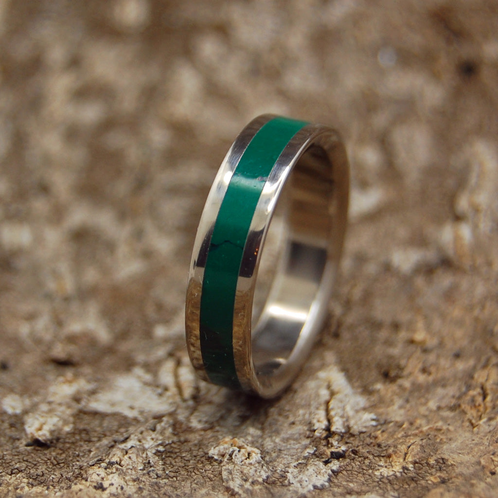 Emperor Jade | Handcrafted Women's Titanium Wedding Rings