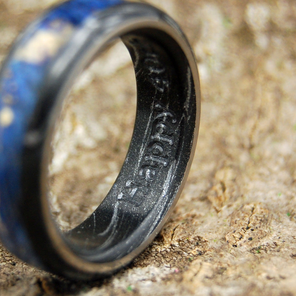 Mens Wedding Rings - Custom Mens Rings - Black Rings | GREEK GOD