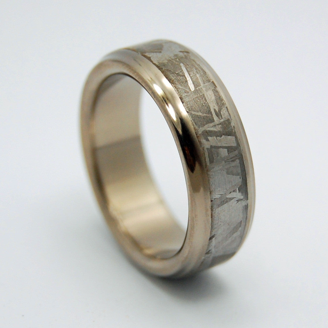 falling star meteorite wedding band - Meteorite Wedding Ring