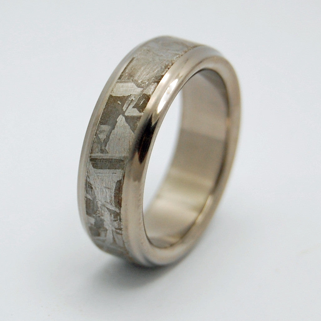 minter & richter | unique wedding rings - falling star meteorite