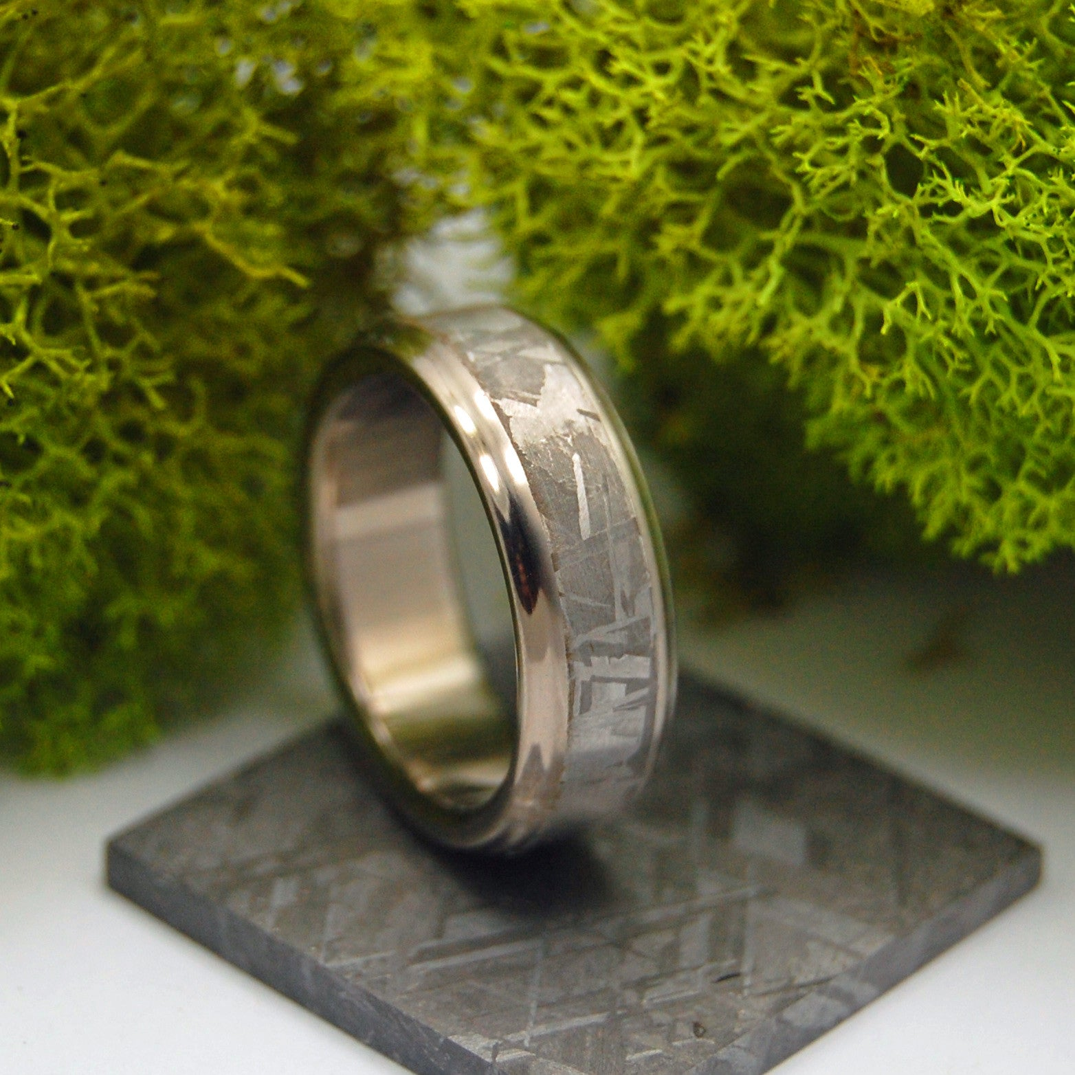 minter richter unique wedding rings falling star meteorite