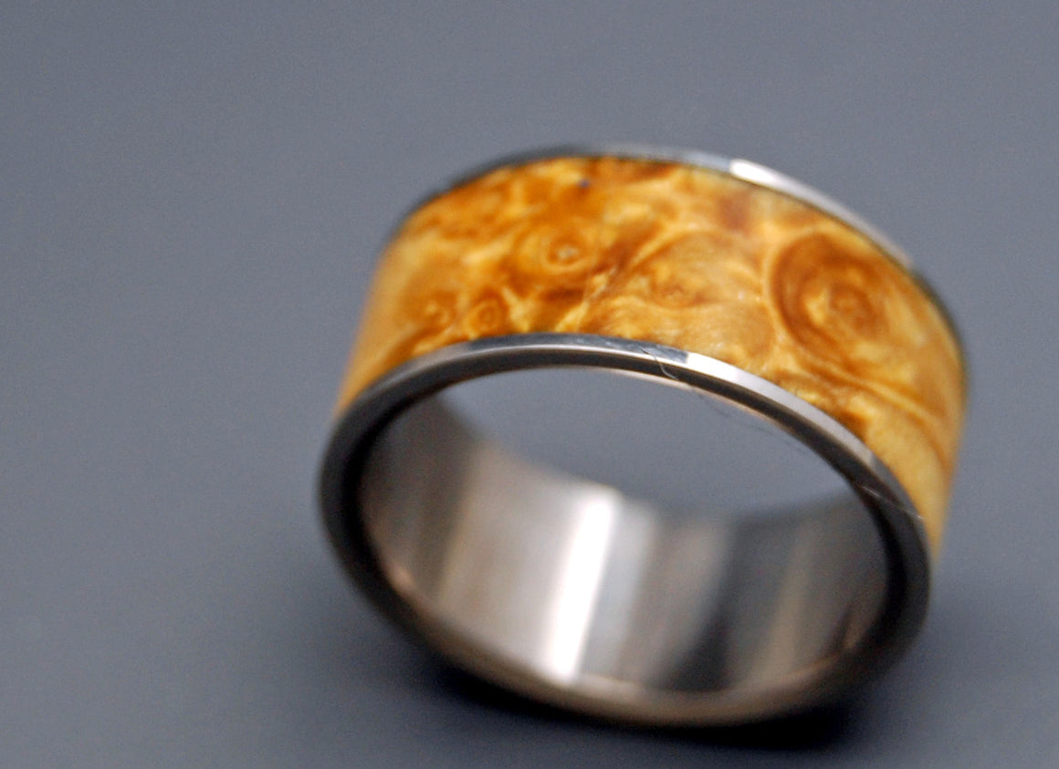Fan the Flame | Wood and Titanium Wedding Ring