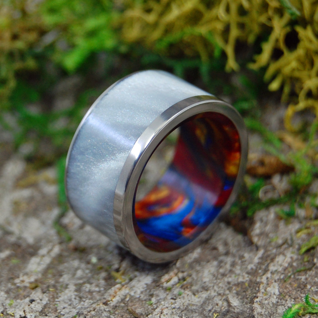 Mens Ring - Handcrafted Titanium Wedding Rings | FIRE WITHIN