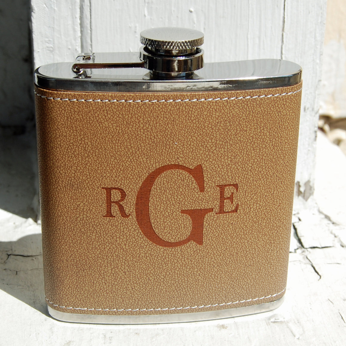 Leather and Steel Flask