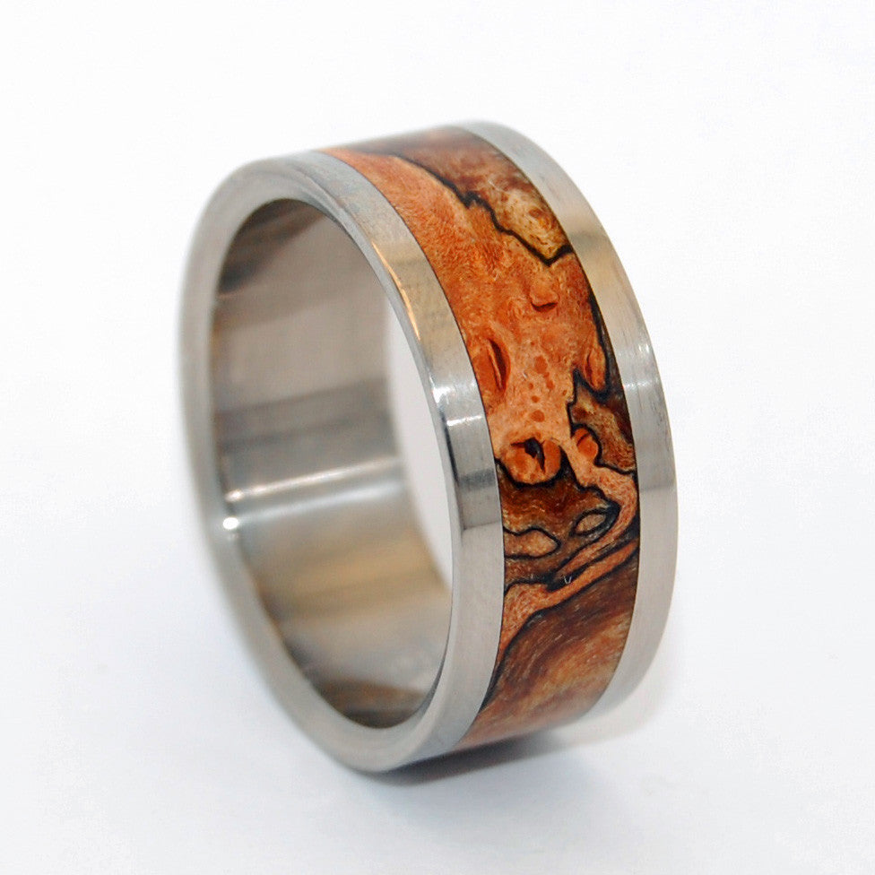 Zone Lines - Spalted Maple Wedding Ring - Minter and Richter Designs