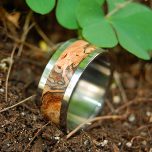 For the Love of Maple | Wood and Titanium Wedding Ring - Minter and Richter Designs