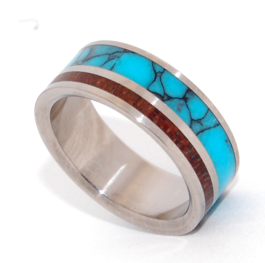 You Can See Me | Stone and Wood Titanium Wedding Ring - Minter and Richter Designs