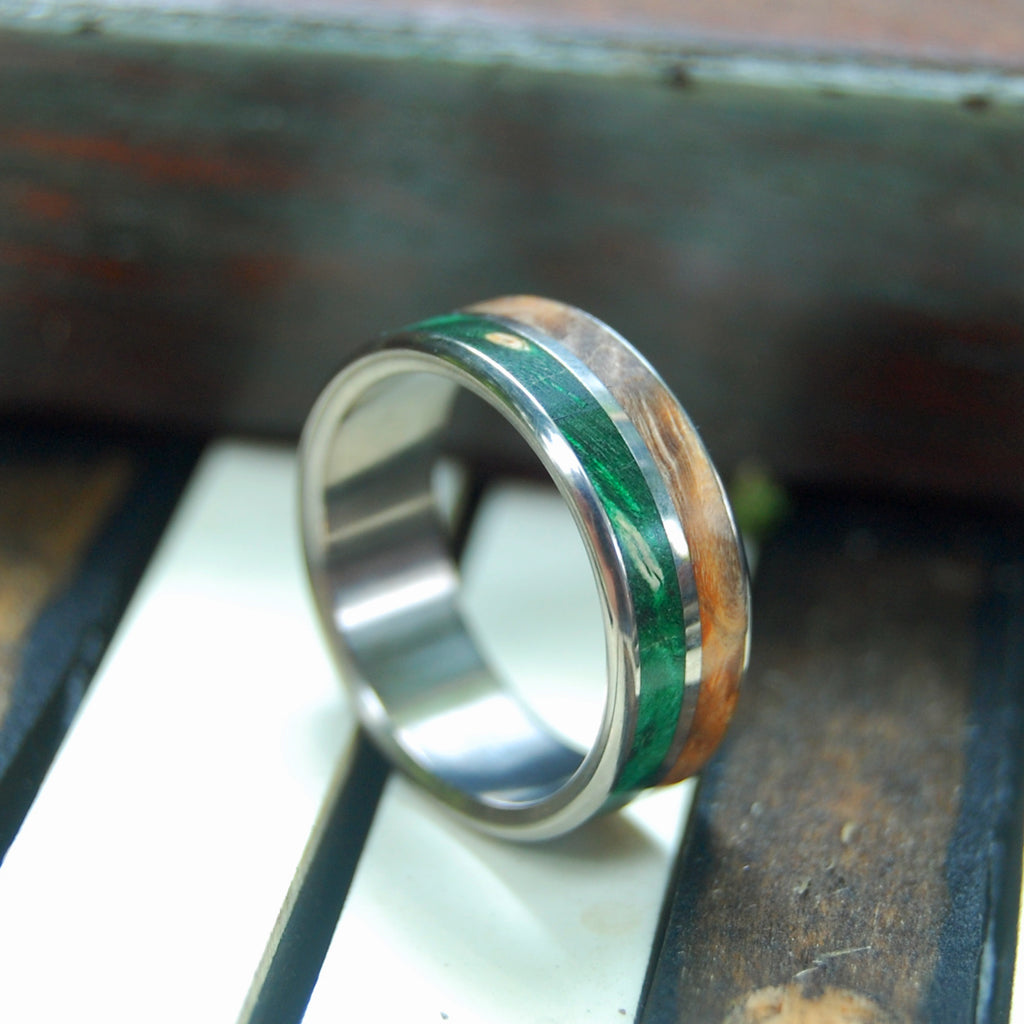 The Giving Tree | Mens Wooden Wedding Ring - Womens Rings