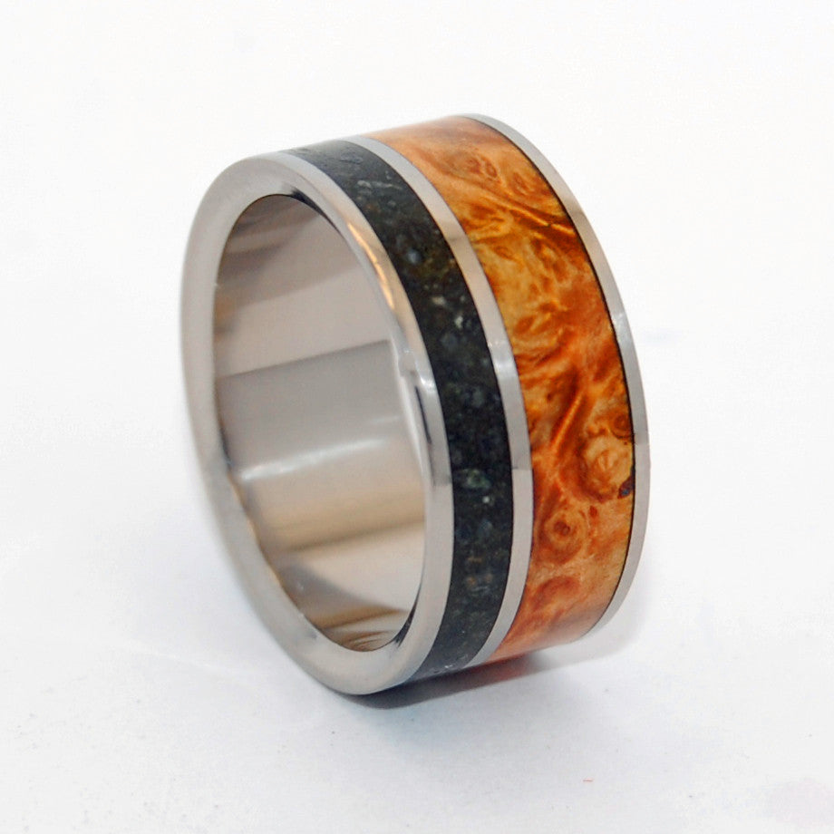Bear Fruit | Concrete and Wood Titanium Wedding Ring - Minter and Richter Designs