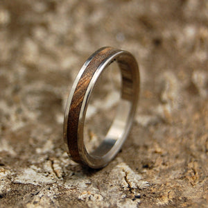 Elderwood Wand | Handcrafted Women's Titanium Wedding Rings