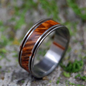 ALCHEMIST | Golden Box Elder Wood Titanium Men's Wedding Ring - Minter and Richter Designs