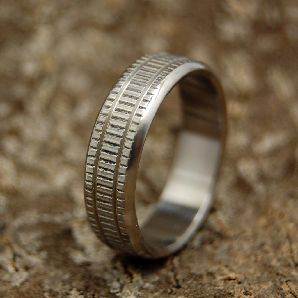 Hit The Silk | Unique Men's Military Grade Wedding Rings