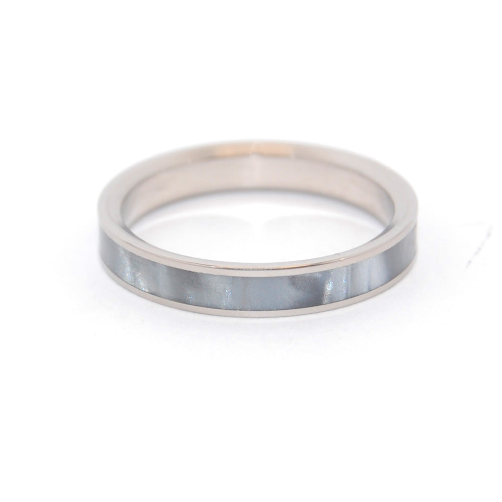 Slim Gray Marbled | Titanium Women's Wedding Band