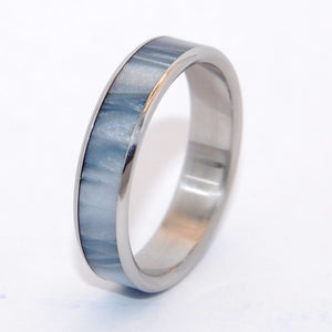 In the Space Below the Fog | Handcrafted Titanium Wedding Ring