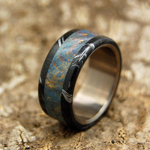 Mens Wedding Rings - Custom Mens Rings - Mokume Gane Rings | GREEK GOD - NO INTERIOR OVERLAY