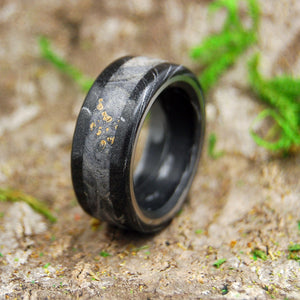GREEK GOD DONS BLACK | Wood & M3 Black Titanium Wedding Rings - Minter and Richter Designs